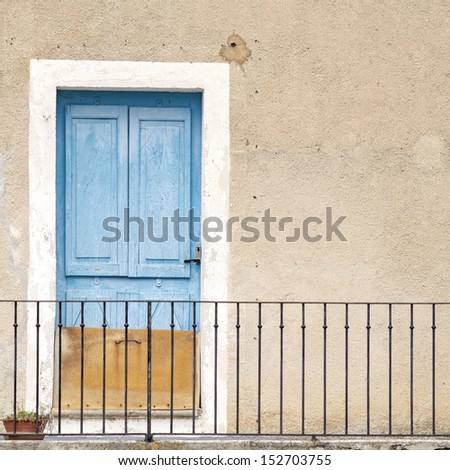 Door in french village. Provence. France. - stock photo
