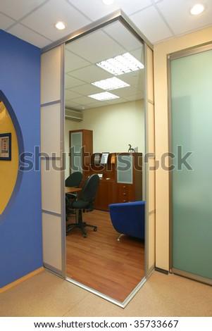 door in the form of a corner - stock photo
