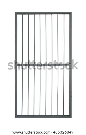 door iron cage isolate on white background