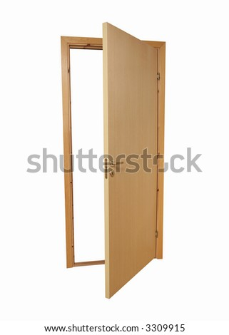 door, isolated on a white background - stock photo