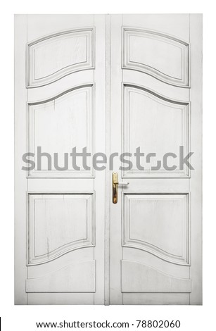 Door isolated on white background - stock photo