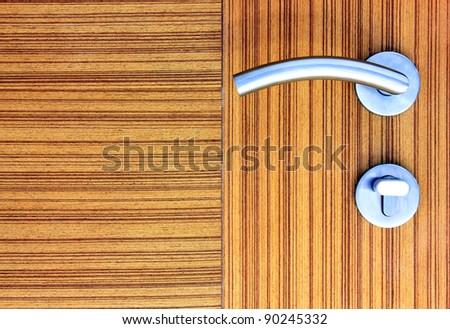 Door knob and door locker. - stock photo