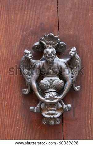 Door knob from Verona, Italy - stock photo