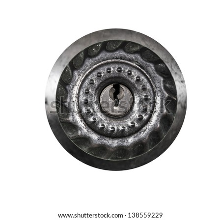 Door knob isolated  - stock photo