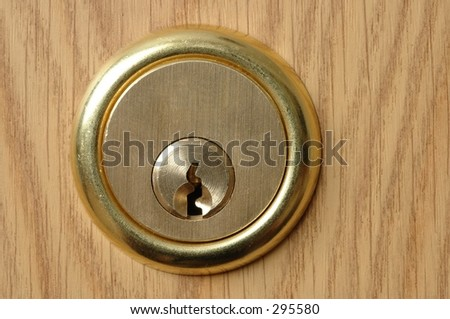 Door lock - stock photo