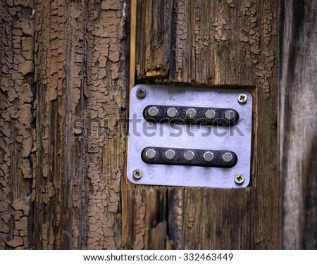 door lock with keypad - stock photo