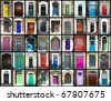 Door montage - stock photo