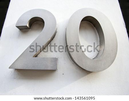 Door Number of Twenty - stock photo