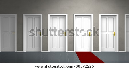 door of a very important person - stock photo