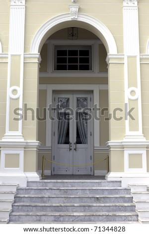 door of bangpain palace Kingdom of Thailand - stock photo