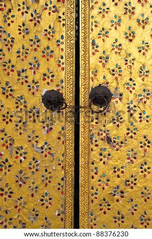 door of pagoda - stock photo