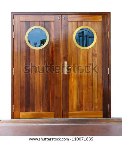 Door on the ship - stock photo