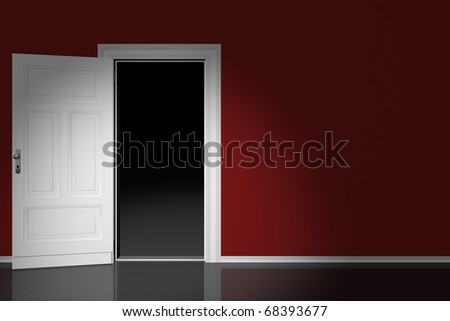 Door open - stock photo