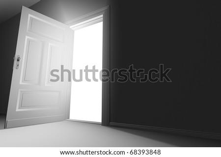 Door open - stock photo