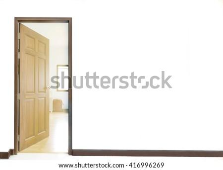 door opened background - stock photo