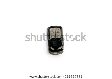 door remote on white background - stock photo