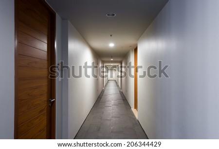 Door rooms in dorm or apartment condominium - stock photo
