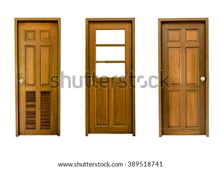 door set isolated - stock photo