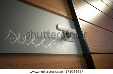 Door to career, opportunity for success in business - stock photo