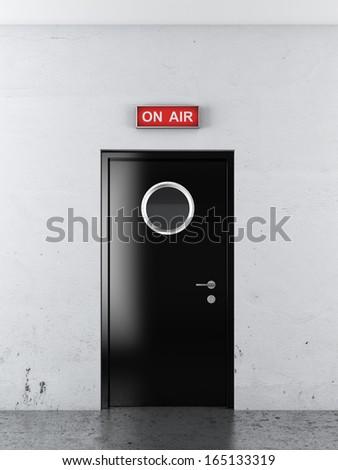 door to studio - stock photo