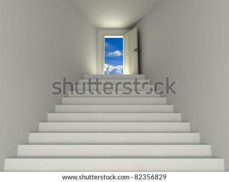 Door to the sky - stock photo