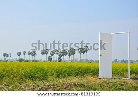 door to tomorrow - stock photo