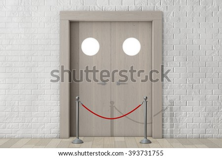 Door with Rope Barrier in front of Brick Wall extreme closeup & Door Rope Barrier Front Brick Wall Stock Illustration 393730978 ... pezcame.com
