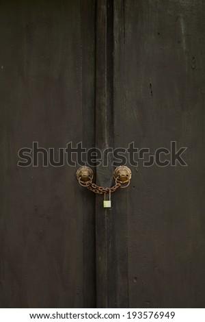 door wood - stock photo