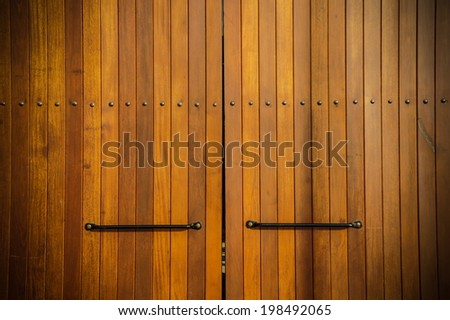 door wood - stock photo