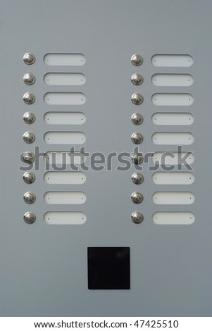 doorbells with blank tags - stock photo