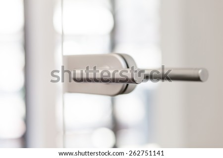 Doorhandle closeup - stock photo