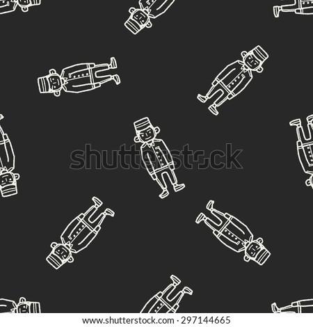 doorman doodle seamless pattern background - stock photo