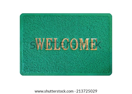 doormat isolated on white background - stock photo