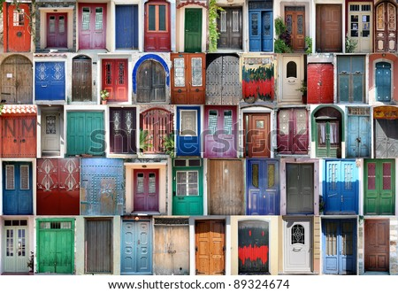 doors - stock photo
