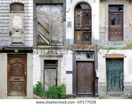 Doors Collection  - Broken, Lost and Forgotten - stock photo