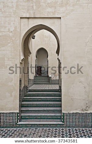 doors connecting several rooms - stock photo