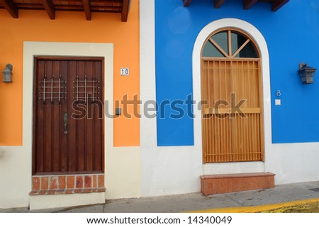 Doors in Old San Juan - stock photo