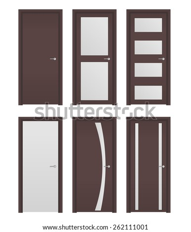 Doors   isolated on white background. Raster version - stock photo
