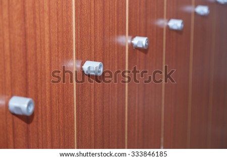 Doors of cabinet. Close-up horizontal photo - stock photo