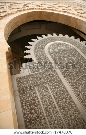 Doorway detail at the Hassan II mosque - Casablanca