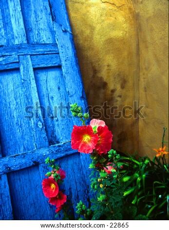 Doorway in Santa Fe. - stock photo