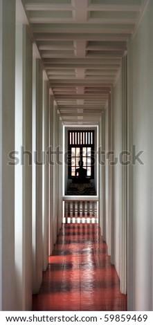 Doorway in the temple - stock photo