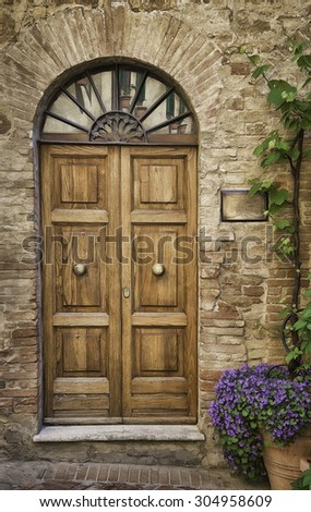Doorway in Tuscany, Italy