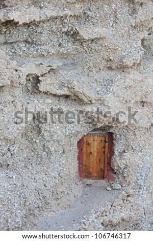 Doorway into a mountain � Buddhist hermit meditation cave in Tibet