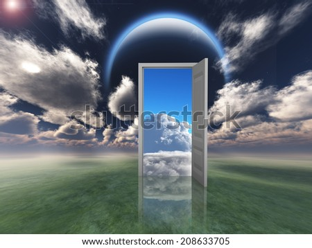 Doorway into other world - stock photo