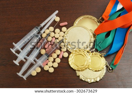 Doping in sport concept - stock photo