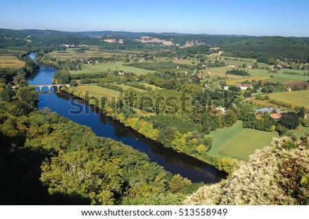 Dordogne valley from the town of Domme, France