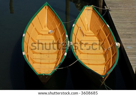 Dories, Side by Side - stock photo