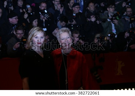 Doris Dorrie, Rosalie Thomass attend the 'Hail, Caesar!' Premiere during the 66th Berlinale International Film Festival on February 11, 2016 in Berlin, Germany. - stock photo