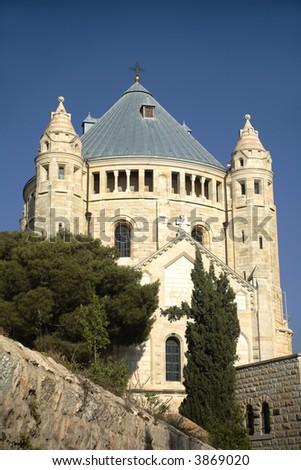 Dormition Abbey, jerusalem - stock photo